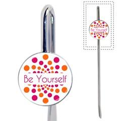 Be Yourself Pink Orange Dots Circular Book Mark by BangZart