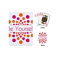 Be Yourself Pink Orange Dots Circular Playing Cards (mini)  by BangZart