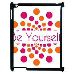 Be Yourself Pink Orange Dots Circular Apple Ipad 2 Case (black) by BangZart