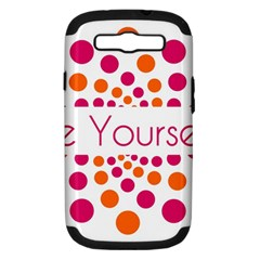 Be Yourself Pink Orange Dots Circular Samsung Galaxy S Iii Hardshell Case (pc+silicone) by BangZart
