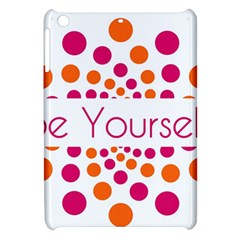 Be Yourself Pink Orange Dots Circular Apple Ipad Mini Hardshell Case by BangZart
