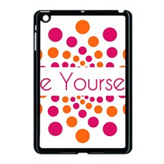Be Yourself Pink Orange Dots Circular Apple Ipad Mini Case (black) by BangZart