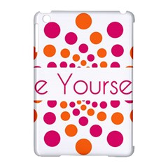 Be Yourself Pink Orange Dots Circular Apple Ipad Mini Hardshell Case (compatible With Smart Cover) by BangZart