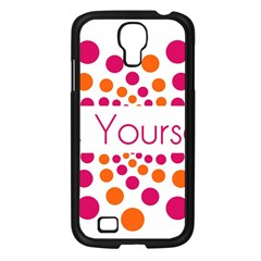 Be Yourself Pink Orange Dots Circular Samsung Galaxy S4 I9500/ I9505 Case (black) by BangZart