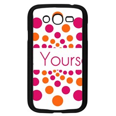 Be Yourself Pink Orange Dots Circular Samsung Galaxy Grand Duos I9082 Case (black) by BangZart