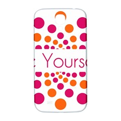 Be Yourself Pink Orange Dots Circular Samsung Galaxy S4 I9500/i9505  Hardshell Back Case by BangZart