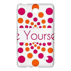Be Yourself Pink Orange Dots Circular Samsung Galaxy Tab 4 (8 ) Hardshell Case  by BangZart