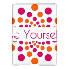 Be Yourself Pink Orange Dots Circular Samsung Galaxy Tab S (10 5 ) Hardshell Case  by BangZart