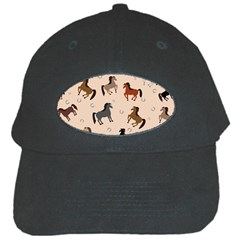 Horses For Courses Pattern Black Cap by BangZart
