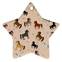Horses For Courses Pattern Ornament (star) by BangZart