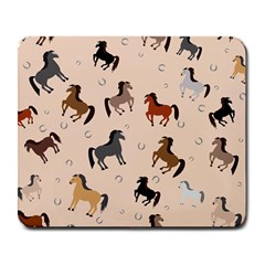 Horses For Courses Pattern Large Mousepads