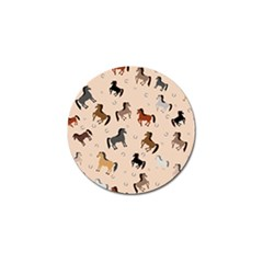 Horses For Courses Pattern Golf Ball Marker (4 Pack) by BangZart