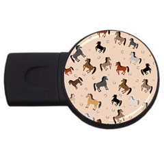 Horses For Courses Pattern Usb Flash Drive Round (2 Gb) by BangZart