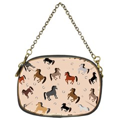 Horses For Courses Pattern Chain Purses (one Side)  by BangZart