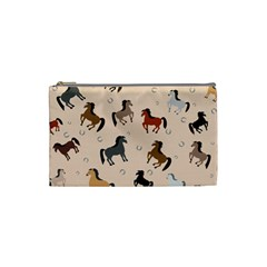 Horses For Courses Pattern Cosmetic Bag (small)  by BangZart