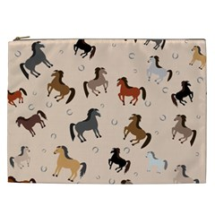 Horses For Courses Pattern Cosmetic Bag (xxl)  by BangZart