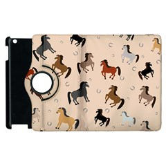 Horses For Courses Pattern Apple Ipad 3/4 Flip 360 Case by BangZart