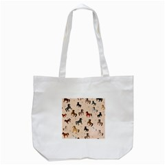 Horses For Courses Pattern Tote Bag (white) by BangZart
