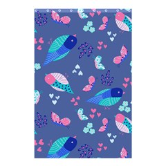 Birds And Butterflies Shower Curtain 48  X 72  (small)  by BangZart