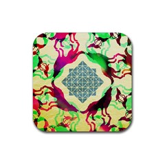 Several Wolves Album Rubber Square Coaster (4 Pack)  by BangZart
