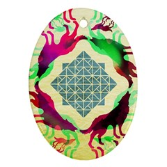 Several Wolves Album Oval Ornament (two Sides) by BangZart