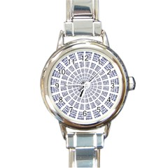 Illustration Binary Null One Figure Abstract Round Italian Charm Watch by BangZart
