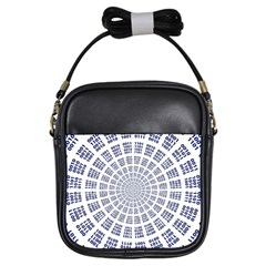 Illustration Binary Null One Figure Abstract Girls Sling Bags by BangZart