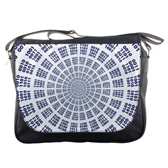 Illustration Binary Null One Figure Abstract Messenger Bags by BangZart