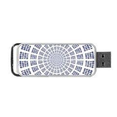 Illustration Binary Null One Figure Abstract Portable Usb Flash (two Sides) by BangZart