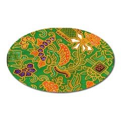Art Batik The Traditional Fabric Oval Magnet by BangZart