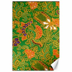 Art Batik The Traditional Fabric Canvas 20  X 30   by BangZart