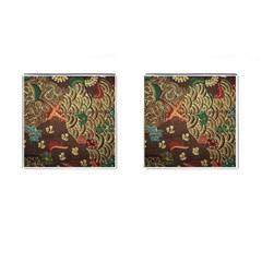 Art Traditional Flower  Batik Pattern Cufflinks (square) by BangZart