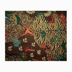 Art Traditional Flower  Batik Pattern Small Glasses Cloth (2 Side) by BangZart