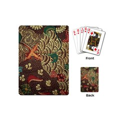 Art Traditional Flower  Batik Pattern Playing Cards (mini)  by BangZart