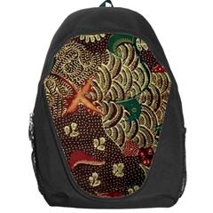 Art Traditional Flower  Batik Pattern Backpack Bag by BangZart