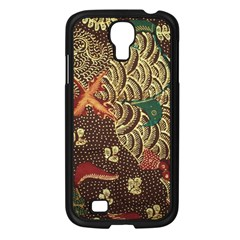 Art Traditional Flower  Batik Pattern Samsung Galaxy S4 I9500/ I9505 Case (black) by BangZart