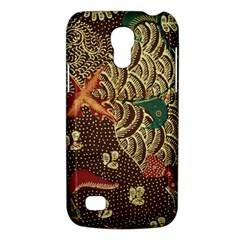 Art Traditional Flower  Batik Pattern Galaxy S4 Mini by BangZart