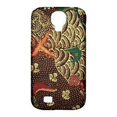 Art Traditional Flower  Batik Pattern Samsung Galaxy S4 Classic Hardshell Case (pc+silicone) by BangZart