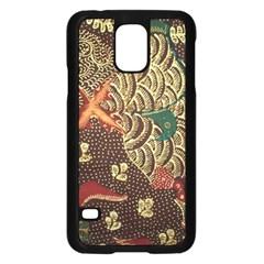Art Traditional Flower  Batik Pattern Samsung Galaxy S5 Case (black) by BangZart