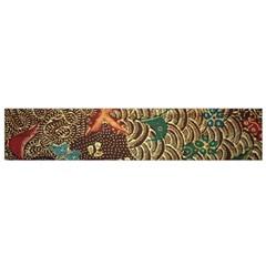 Art Traditional Flower  Batik Pattern Flano Scarf (small) by BangZart