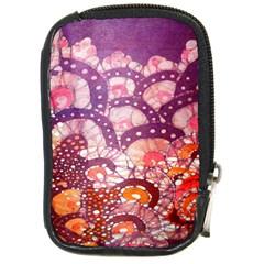 Colorful Art Traditional Batik Pattern Compact Camera Cases by BangZart