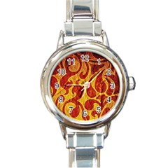 Abstract Pattern Round Italian Charm Watch by BangZart
