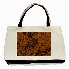 Art Traditional Batik Flower Pattern Basic Tote Bag by BangZart