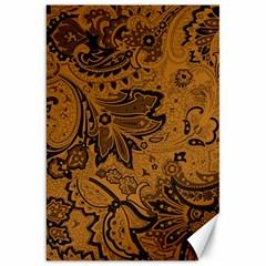 Art Traditional Batik Flower Pattern Canvas 20  X 30   by BangZart