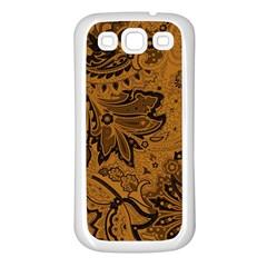 Art Traditional Batik Flower Pattern Samsung Galaxy S3 Back Case (white) by BangZart