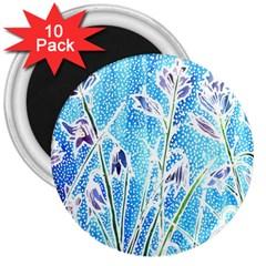 Art Batik Flowers Pattern 3  Magnets (10 Pack)  by BangZart