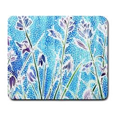 Art Batik Flowers Pattern Large Mousepads by BangZart