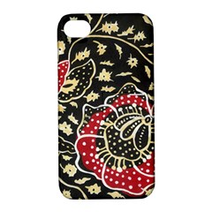 Art Batik Pattern Apple Iphone 4/4s Hardshell Case With Stand by BangZart