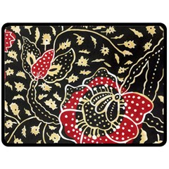 Art Batik Pattern Double Sided Fleece Blanket (large)  by BangZart