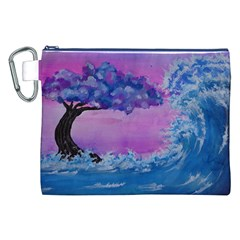 Rising To Touch You Canvas Cosmetic Bag (xxl) by Dimkad